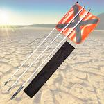 Roadsafe 3Mt Sand Flag (Simpson Desert Compliant)