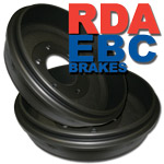 Pair of RDA Rear Brake Drums Nissan Navara D21,D22