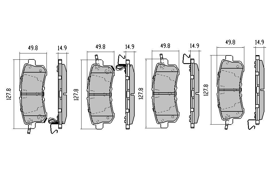 pair of rda brake drums land rover series iia  defender