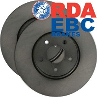 Pair of RDA Performance Front Disc Rotors Landcruiser 100 Series