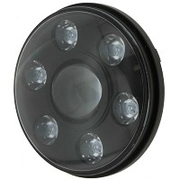 "Ignite 7"" LED Round Headlight Black Face"